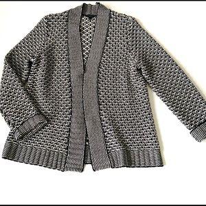 Talbot Open Front Cardigan Knit Boho Modern Stripe